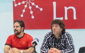 Raul Diaz de Arkaia eta Ibon Arrieta, Elkargunean. (Ana Abarisketa)